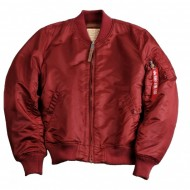 Alpha Industries - MA-1 VF 59 Bomberjacke burgundy