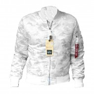 Alpha Industries MA-1 VF 59 Bomberjacke white camo