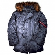 Alpha Industries - N3B Winterjacke gunmetal