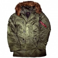 Alpha Industries - N3B Winterjacke sage-green