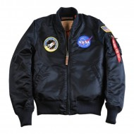 Alpha Industries NASA MA-1 VF Bomberjacke rep. blue