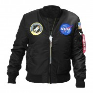 Alpha Industries NASA MA-1 VF Bomberjacke schwarz