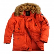 Alpha Industries Polar Winterjacke rot