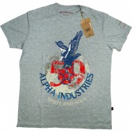 Alpha Industries T-Shirt Spirit and Soul grau