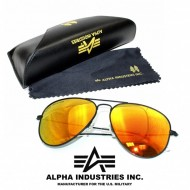 Alpha Industries Top Gun Sonnenbrille black/gold