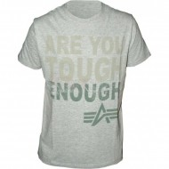 Alpha Industries Tough T-Shirt grau