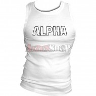 Alpha Industries Track Tank weiss