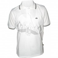 Alpha Industries Twin Stripe Polo white/black