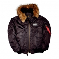 Alpha Industries Bomberjacke CWU 45 P Hooded schwarz