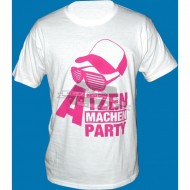 Atzen machen Party Design 2 weiss/lila