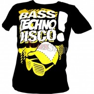 Bass, Techno, Disco Girly T-Shirt