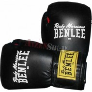 Benlee Rocky Marciano Leather Boxing Gloves FIGHTER black/red