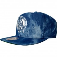 Boston Celtics Snapback Blue Dyed Denim | NBA | Mitchell...