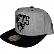 Brooklyn Nets Snapback grau/schwarz | NBA | Mitchell & Ness
