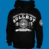 Bullrot Wear International University Hoody schwarz