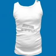 Bullrot Wear Tank Top weiss