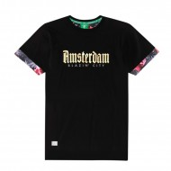 Cayler & Sons Amsterdam Roll Up Tee black/multi (SALE)