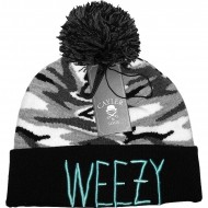 Cayler & Sons Beanie C&S Weezy Pom Pom snow camo/black/mint