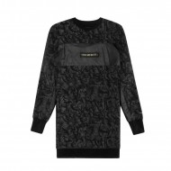 Cayler & Sons Black Label No Mercy Long Crewneck black/gold (SALE)