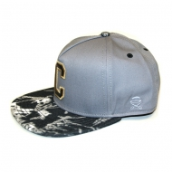 Cayler & Sons Golden Label - Cee Acid Snapback Cap grey/acric washed black denim/gold