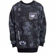 Cayler & Sons Sweater Series Oversized Crewneck black camo/grey