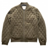 Chabos IIVII Quilted Bomber Jacket olive