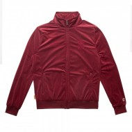 Chabos IIVII Track Jacket Core Velour burgundy