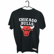 Chicago Bulls Team Logo Traditional T-Shirt schwarz