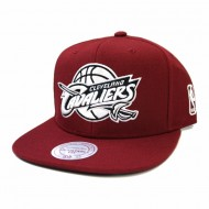 Cleveland Cavaliers Black and White Team Base Snapback | NBA | Mitchell & Ness