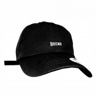 Cocaine Casino Bosnien Curved Strapback Cap Schwarz