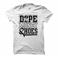 Cocaine Casino - Dope Money Hoes U-Neck Shirt weiß (SALE)