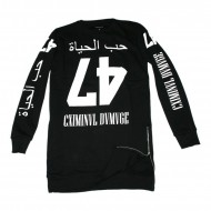 Criminal Damage Longsleeve Love Life Long black Sidezips (SALE)