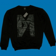 "Fler ""M"" Sweater schwarz ton in ton"