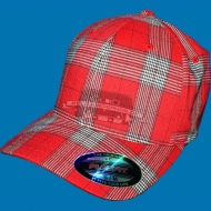 Flexfit Cap Plaid rot