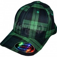 Flexfit Cap Tartan Plaid black/green