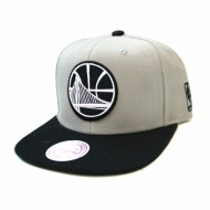 Golden State Warriors Grey Black and White Mono Logo Snapback | NBA | Mitchell & Ness (Ausverkauft)