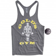 Golds Gym Stringer Tank Top Classic Arctic Grey