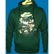 Joker Brand Camo Clown Hoodie green