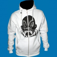Joker Brand - LA Clown Zip Hoody white