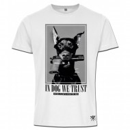 La Vida Loca In Dog We Trust Fitted T-Shirt Weiss