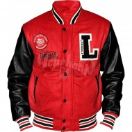 Lonsdale Baseball Jacket Oxford rot/schwarz