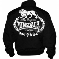 Lonsdale Harrington Jacket 1960 LEAVES schwarz