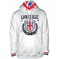 Lonsdale - Slim Fit Hooded Sweater History Leaves weiss