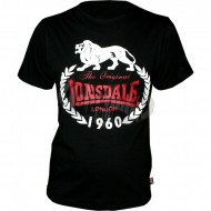 Lonsdale Slim Fit T-Shirt 1960 Original schwarz