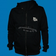Lonsdale Slim Fit Zip Hoody Acton schwarz