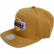 Los Angeles Lakers Snapback Tan | NBA | Mitchell & Ness