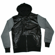 Maskulin Leather Body Zip Hoodie (SALE)