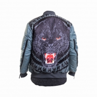 Maskulin Panther Bomber Jacket grey