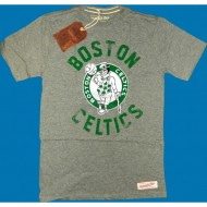 Mitchell & Ness - Boston Celtics Distressed Shirt grau (SALE)