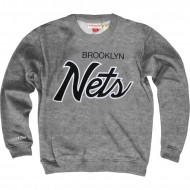 Mitchell & Ness - Brooklyn Nets Sweater Lettering grau
